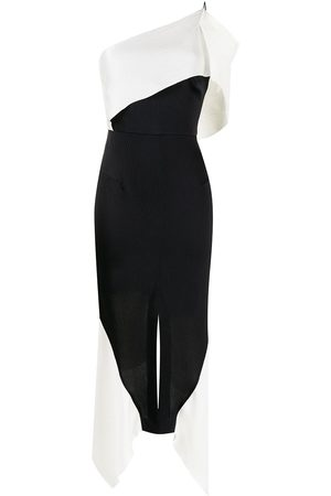 Roland Mouret Harlow colour block asymmetric dress