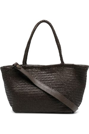 Officine creative Woven leather tote bag