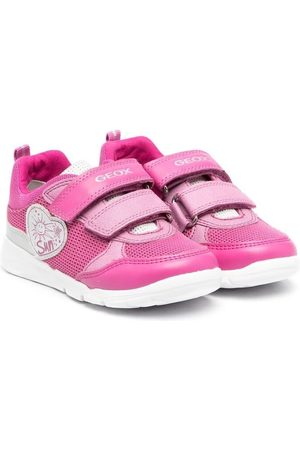 Geox Heart-plaque touch-strap sneakers