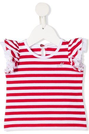 MONNALISA Baby T-shirts - Striped ruffled T-shirt