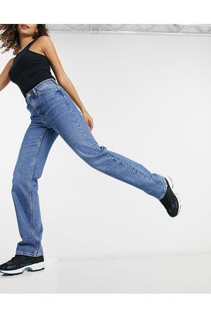 Weekday Women High Waisted - Voyage high waist straight leg jeans in sea