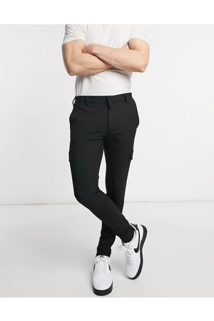 ASOS Smart extreme super skinny trousers with cargo pockets in