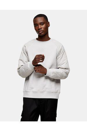 Topman Men Sweatshirts - Quilted raglan sleeve sweat in