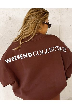 ASOS Weekend Collective Oversized sweatshirt with back logo in
