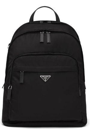 Prada Re-Nylon logo zipped backpack
