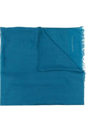 Emporio Armani Ombré-effect frayed scarf