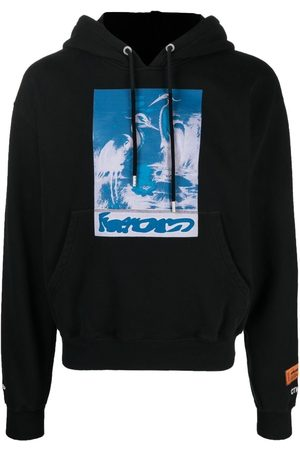 Heron Preston Birds-print cotton hoodie