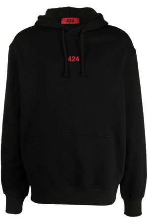 424 FAIRFAX Logo-embroidered cotton hoodie