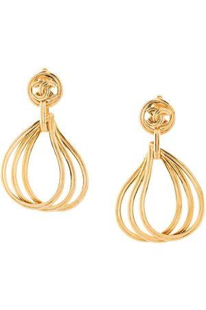 CHANEL Women Earrings - 1996 cut-out drop dangling earrings