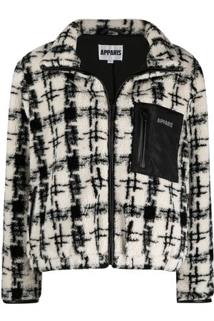 Apparis Women Bomber Jackets - Kayla houndstooth-pattern bomber jacket