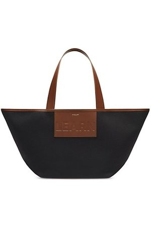 DeMellier Handbags - The Learn Leather & Organic Cotton Tote