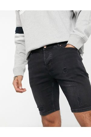 ASOS Skinny denim shorts in washed with rips