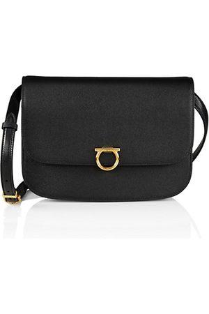 Salvatore Ferragamo Leather Round Crossbody Bag