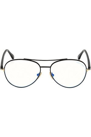 Tom Ford 55MM Round Block Optical Glasses