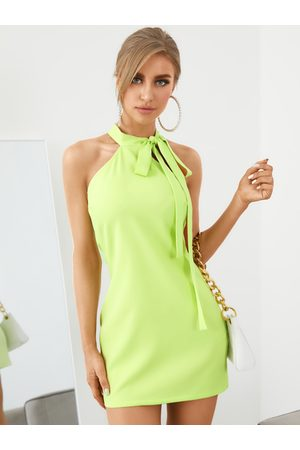 YOINS Halter Tie-up design Sleeveless Mini Dress