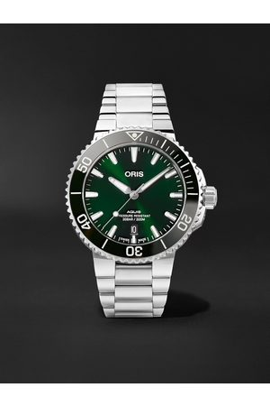 Oris Men Watches - Aquis Date Automatic 41.5mm Stainless Steel Watch, Ref. No. 01 733 7766 4157-07 8 22 05PEB
