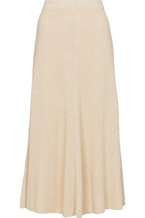 Joseph Ribbed-knit cotton midi skirt