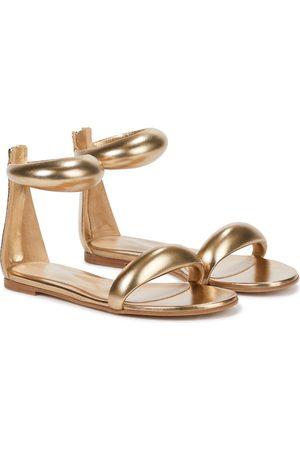 Gianvito Rossi Women Sandals - California metallic leather sandals
