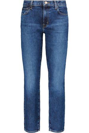 J Brand Adele mid-rise straight jeans