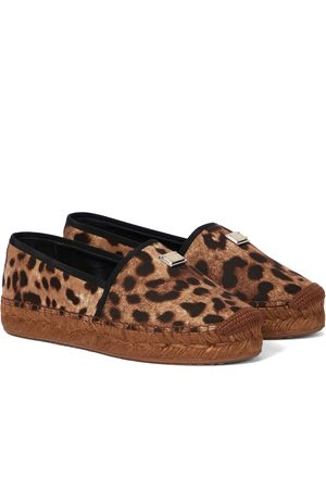 Dolce & Gabbana Women Espadrilles - Leopard-print platform espadrilles