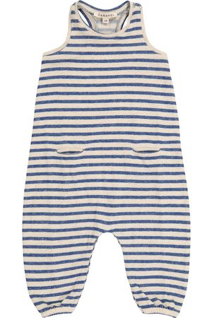 Caramel Rompers - Baby Swordfish striped onesie