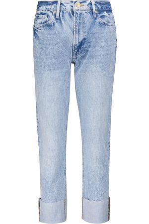 Frame Women High Waisted - Le Piper high-rise straight jeans