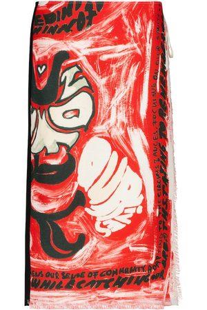 Marni Women Printed Skirts - Printed wrap skirt