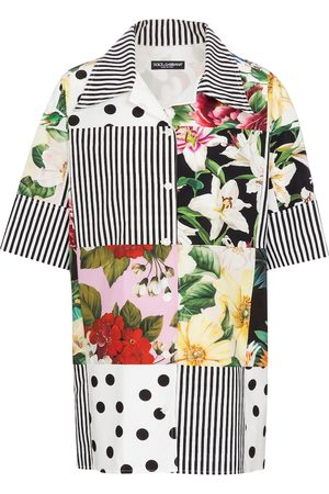 Dolce & Gabbana Women Short Sleeve - Patchwork cotton shirt