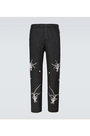 BODE Men Formal Pants - Merino wool Garden sweatpants
