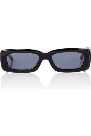 The Attico X Linda Farrow Mini Marfa rectangular sunglasses