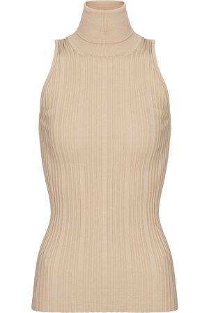 Tod's Ribbed-knit sleeveless cotton top