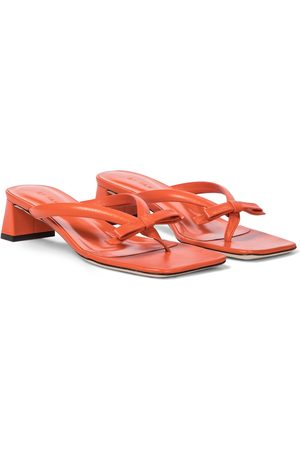 By Far Bibi leather thong sandals