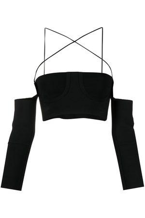 AMBUSH Fine-knit strappy crop top