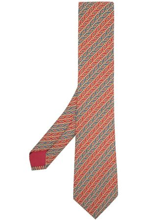 Hermès 2000s pre-owned patterned jacquard tie