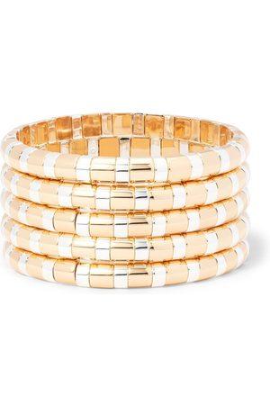 Roxanne Assoulin Set of 5 index bracelets