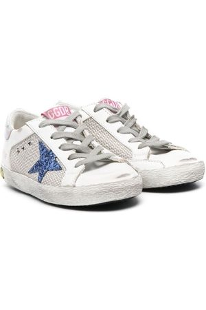 Golden Goose Star-patch lace-up trainers
