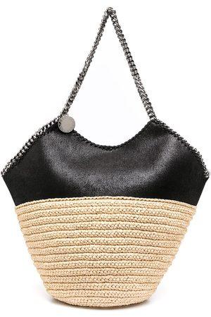 Stella McCartney Large Falabella straw panelled shoulder bag