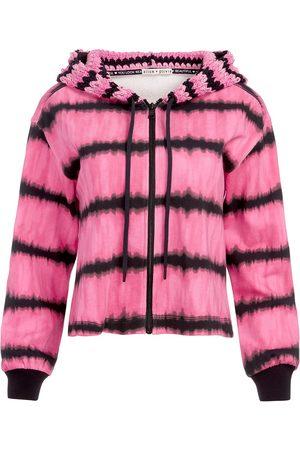 ALICE+OLIVIA Tie-dye print zipped hoodie