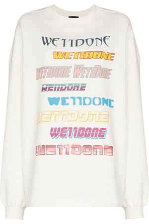 We11 Done Logo-print crew-neck sweatshirt