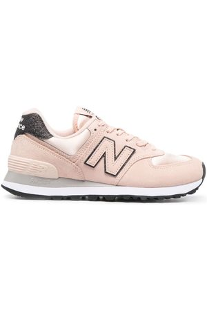 New Balance 574 suede low-top sneakers