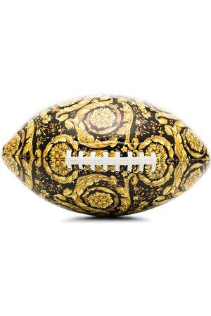 VERSACE Barocco-print rugby ball
