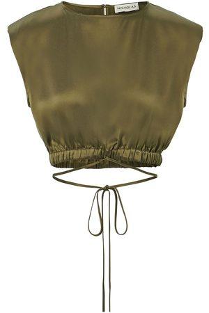 Nicholas Rey cropped silk tank top