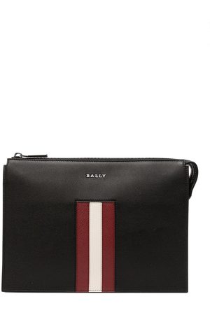 Bally Striped leather pouch