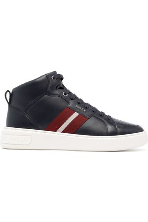Bally Myles stripe band high-top sneakers