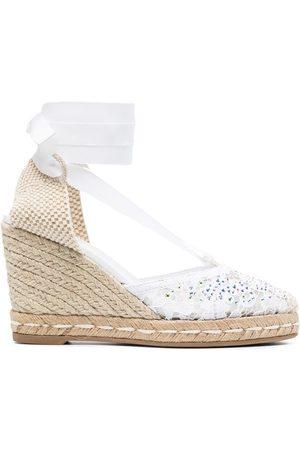LE SILLA Embellished wedge sandals