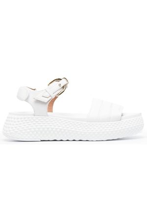 Emporio Armani Textured chunky-sole sandals