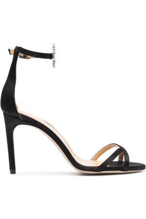 GIANNICO Daphne lip-buckle crystal-embellished sandals