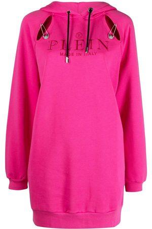 Philipp Plein Embroidered-logo pullover hoodie