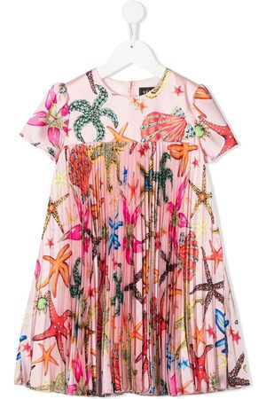 VERSACE Pleated embroidered dress