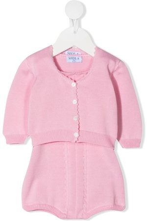 SIOLA Cable-knit romper-set